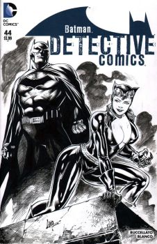 Catwoman and Batman - Blank Cover Skecth by CaioMarcus-ART