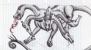 Hydra (Sketch) by Ni-and-Shrbbery