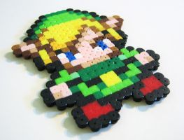 Perler Link from Zelda2 by Melon-love