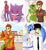Pokemon Trainers 1 by fwosh