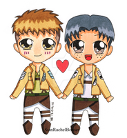 Jean loves Marco and Marco Loves Jean by zombie-pops