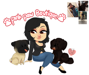 Xxglamour Chibi Plus Dogs2 commission by temporaryWizard