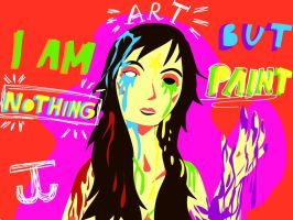 I am nothing but paint by JudytaDragon