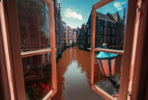 Amsterdam from my window (2) by INVIV0