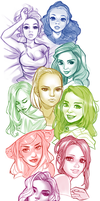 Faces and Colors by Blushy-Pixy