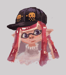 Pink squid by lattemilky