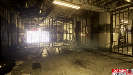 Unreal Engine 4 Old Metro Station by DaminDesign