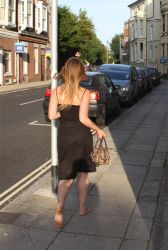 Amber Barefoot in the Street by Barefooter73