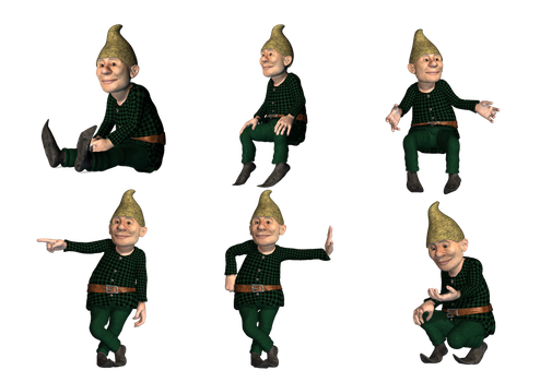 Gnomes 2 PNG Stock by Roy3D