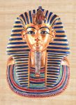 The Death Mask of Tutankhamun by Theophilia