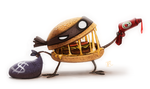 Daily Painting 620 # Sketch Dailies - Hamburgler by Cryptid-Creations