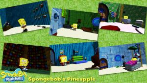 (MMD/XPS Stage) Spongebob's Pineapple Download by SAB64