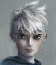Jack Frost and a dedication! :) by Blackbell93