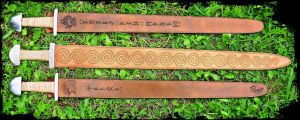 Viking Sword Scabbards by Half-Goat