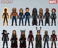 Marvel Cinematic Amalgam Universe #1 by LoganWaynee
