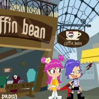 Ami and Yumi at the Coffin Bean (MH) by VapeStrawberryCake
