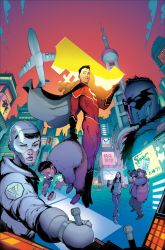 New Super-Man #1 cover by Roboworks