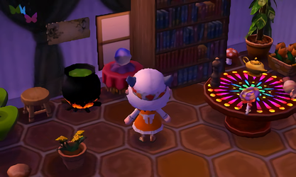 My cute little witch house ACNL by Kiwiberry122