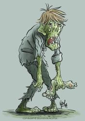Zombie warm-up sketch by KevRichter