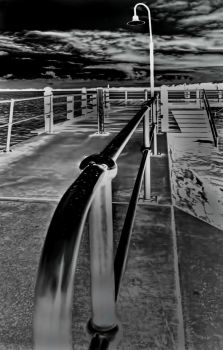 raindrops on the hand-rail by GeoffSporne