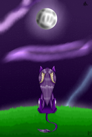 ReDraw Looking Up To The Moon + ]speedpaint by MidNightFlyer53