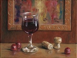Glass of wine by dasidaria-art