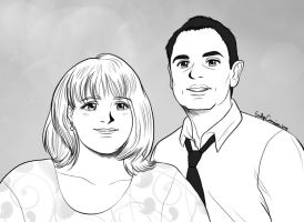 Shirley and Dave's Anime Portrait by EmilyCammisa