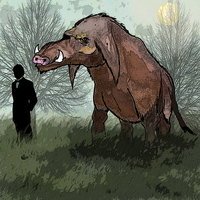 Mammoth boar, the last of his kind ! by Brobar