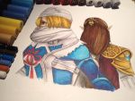 Zelda and Sheik by LaraWegenaerArts