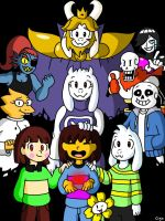Happy 2nd anniversary Undertale ! by Clemi1806