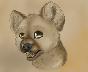 Spotted hyena by Leah-Tribal