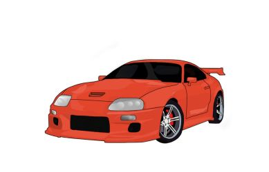Toyota Supra Vector by dyroot