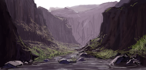Canyon speed sketch by RQuack