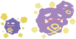 Koffing and Weezing Base by SelenaEde