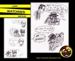 Watchmen Sketches by Tavoriel