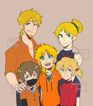 Commisison: Kenny Family by kanoii-chi