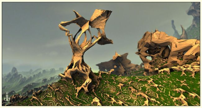 The Blasted Stump by bluefish3d