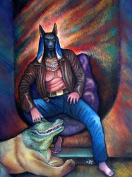Gods for Modern Times: Anubis by badgersoph