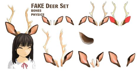 MMD- Fake Deer Set -DL by MMDFakewings18
