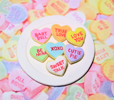 Conversation Heart Cookies 1:6 Scale by kingofthebutterflies