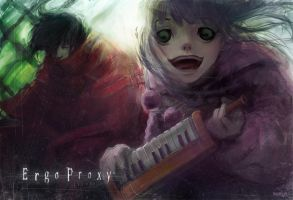 Ergo Proxy , Pino and Vincent by Morwran