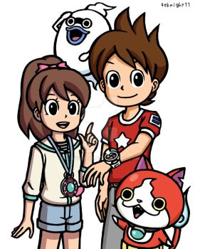 Youkai Watch Keita and Fumi by 4eknight11