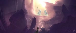 The Gate (Values/colors study, ~60min) by xistenceimaginations