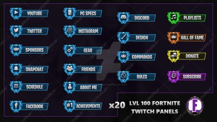 LVL 100 Fortnite - Twitch Panels by LoL-Overlay