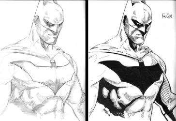 Batman Pencils_Inks Commission by Anmph