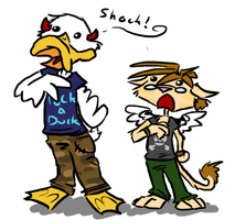The Duck and Neko are Shocked by Heros-Shadow