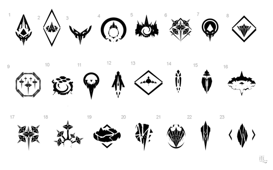 Fractals Logo First Draft Concepts by ameshin