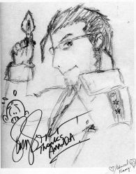 Signed Maes Hughes Drawing by Ryusora