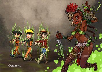 Witch Doctor's reanimating manga heroes!! by DeDorgoth