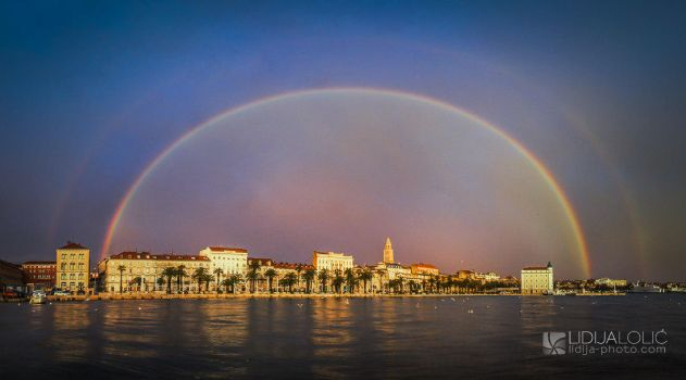 Double rainbow over Split by Lidija-Lolic